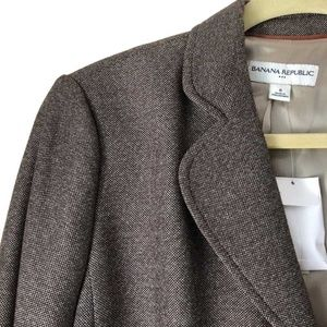 Banana Republic Brown Tweed Blazer NWT Size 8
